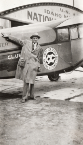 Member with old Exchange airplane aviation
