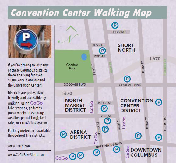 Convention Center Walking Map