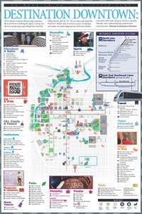 Houston Downtown Destinations Map