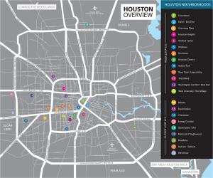 Houston Neighborhoods Overview Map