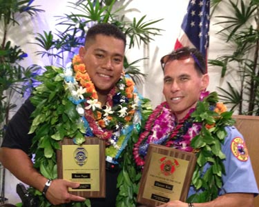 Mar 16 Aloha East Hawaii police fire award of year