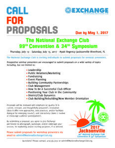 Call for Proposals 2017
