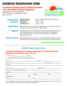 Exhibitor reservation form 2017